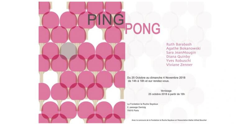25/10▷04/11 – PING-PONG – FONDATION LA RUCHE-SEYDOUX PARIS