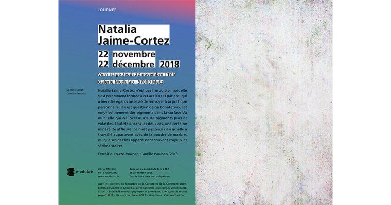 22/11 ▷ 22/12 – Natalia Jaime-Cortez – Journée – Galerie Modulab Metz
