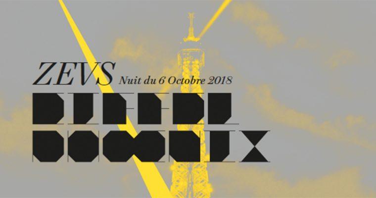 Samedi 06 octobre 23h45 – NUIT BLANCHE 2018 – Eiffel Phoenix par ZEVS