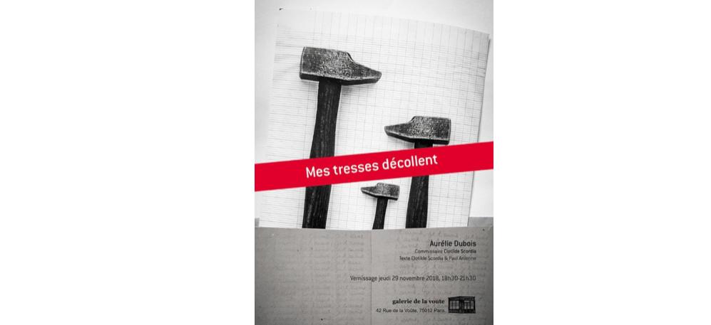 29/11▷18/12 – Aurélie Dubois – Mes Tresses Décollent – Galerie de la Voûte Paris