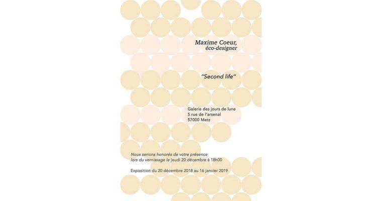 20/12-16/01 – MAXIME COEUR – SECOND LIFE – GALERIE DES JOURS DE LUNE – METZ