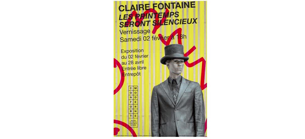 02/02 AU 28/04 – CLAIRE FONTAINE – LES PRINTEMPS SERONT SILENCIEUX – LE CONFORT MODERNEPOITIERS