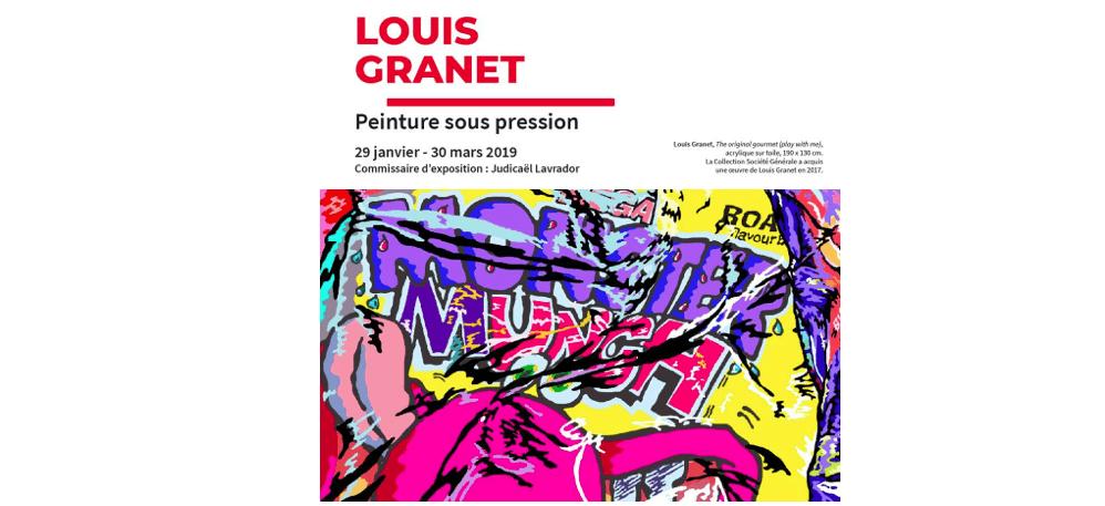 29/01 AU 30/03 – LOUIS GRANET – PEINTURE SOUS PRESSION – TOURS SOCIÉTÉ GÉNÉRALE LA DÉFENSE PARIS