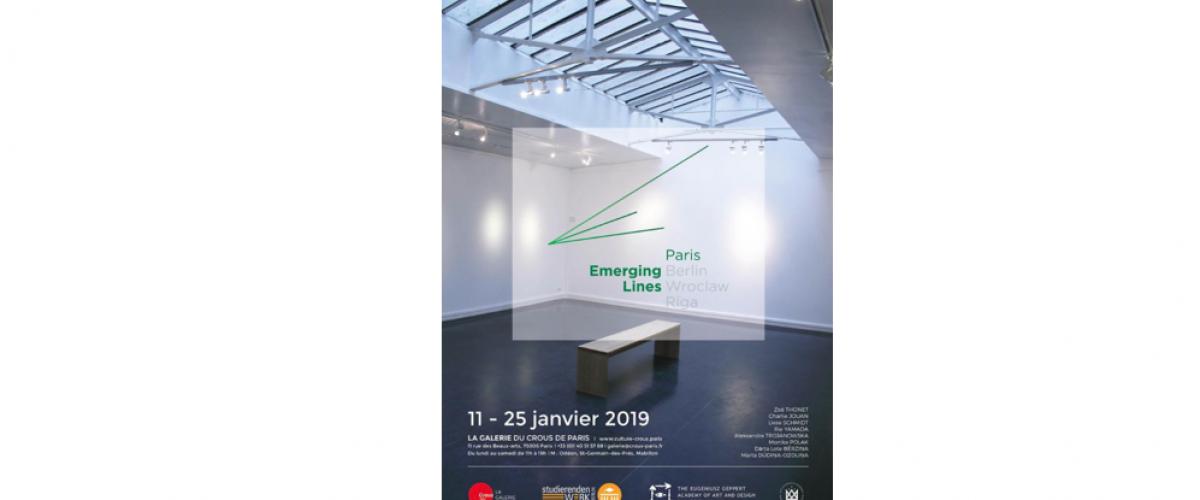 11 AU 25/01 – EMERGING LINES PARIS #1 – GALERIE DU CROUSDE PARIS