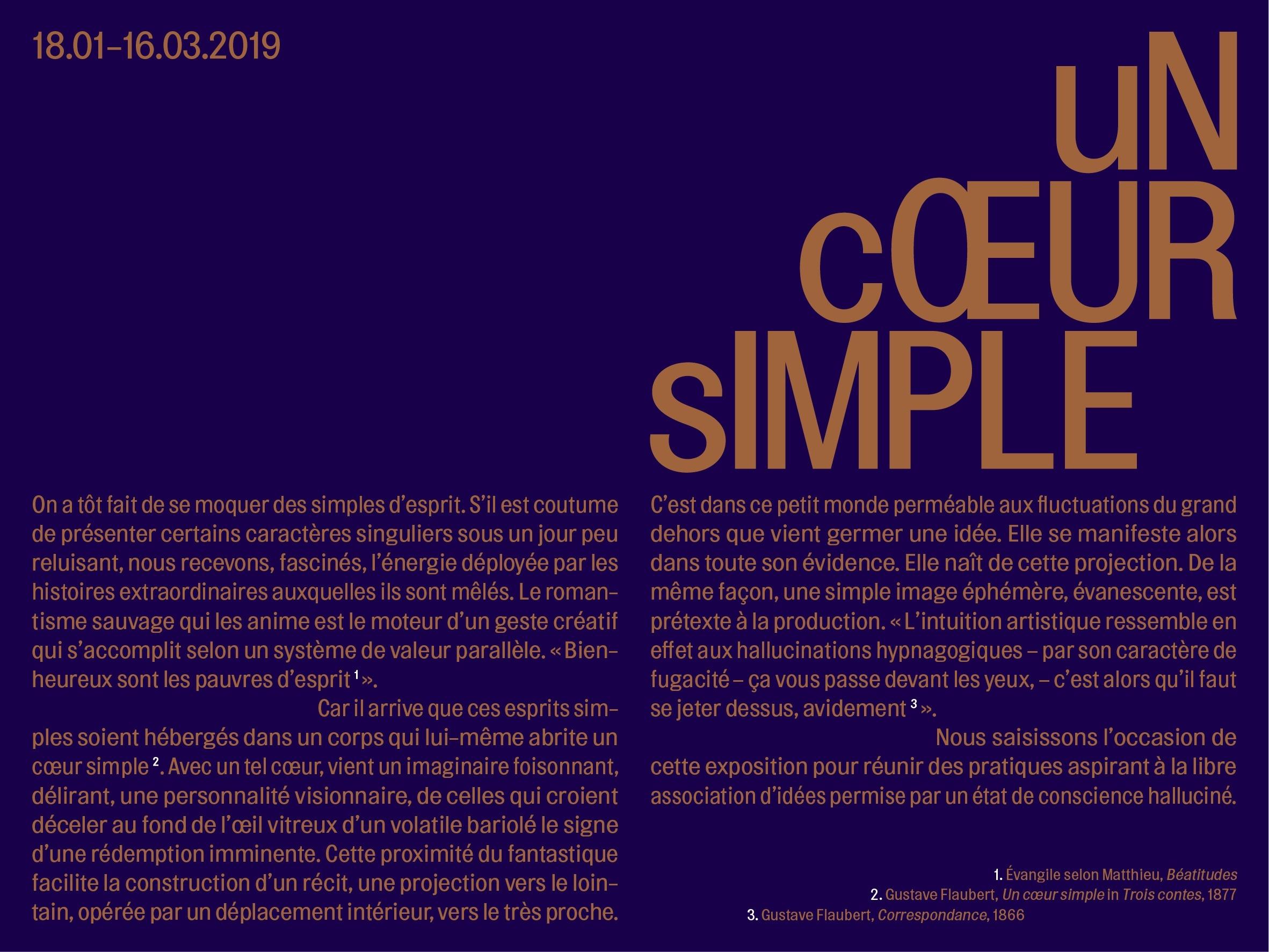 exposition_Un cœur simple_Centre Tignous d'art contemporain de Montreuil