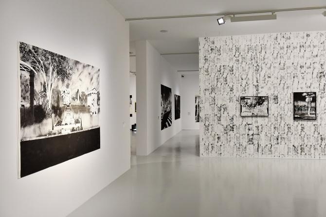 Vue de l'expositionRingoleV.io Cosmiquede Maxime Duveau© Courtesy de l'artiste et de la galerie Houg. Photo : C. Piérot