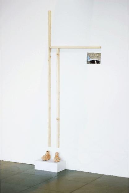 Babeth Rambault, Les poteaux de mon poul_exposition_La Cuisine_Nègrepelisse