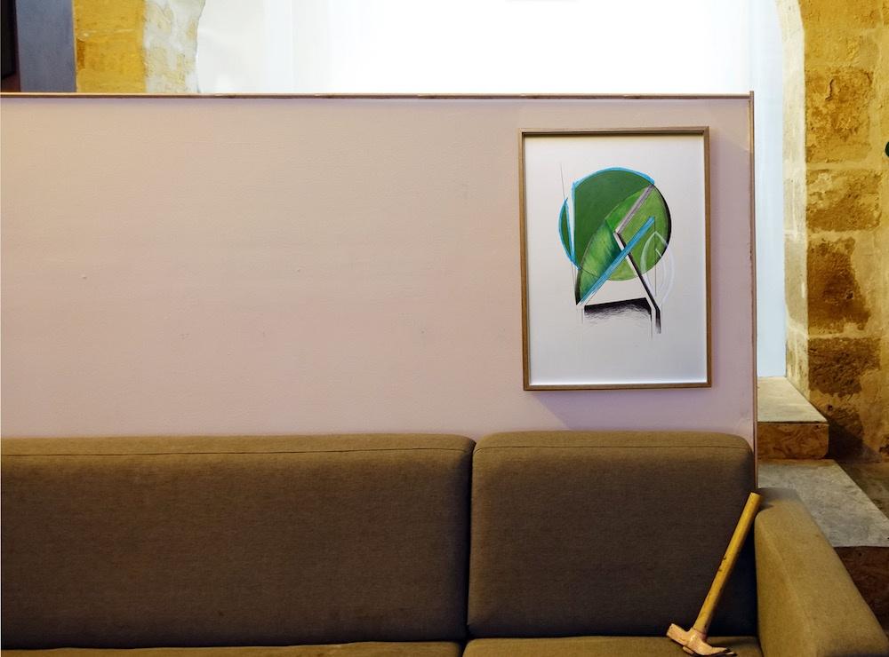 Vue de l'exposition personnelle Nervures d'Alice Raymondsous le commissariat d'Élise Girardot du21 février au 24 mars à5UN7, Bordeaux.
