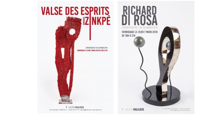 07 AU 30/03 – DOMINIQUE ZINKPÈ / RICHARD DI ROSA – GALERIE VALLOIS, PARIS