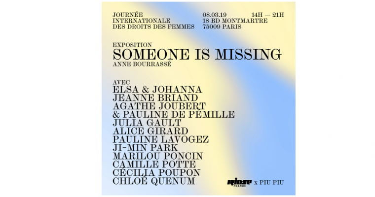 08/03 – 11H à 21H – SOMEONE IS MISSING – PARIS 09