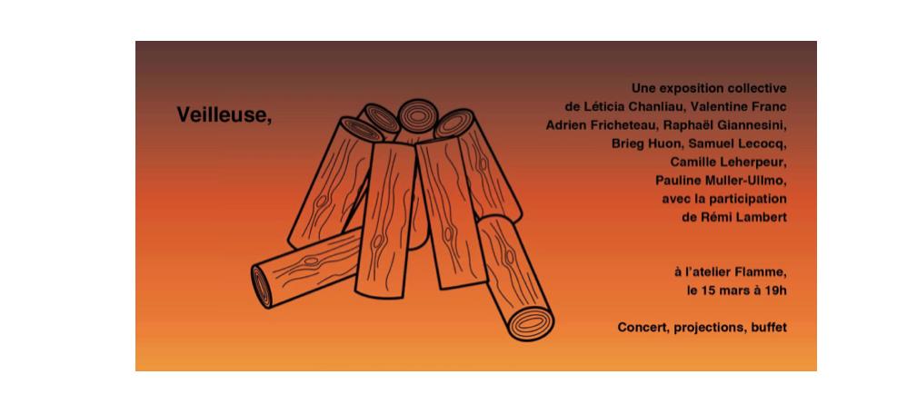 15/03 – 19H À 00H – VEILLEUSE – ATELIER FLAMME, MONTREUIL