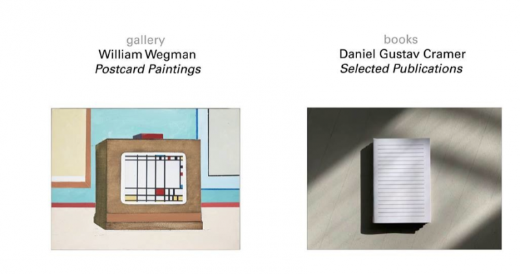 William Wegman / Daniel Gustav Cramer – 30/03 au 11/05 – Florence Loewy gallery / books, Paris