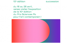 Prix Sciences Po pour l'art contemporain — 10e édition – 16 au 26/04 – Sciences Po, Paris