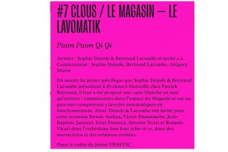 Paon Paon Qi Qi – 30/05 au 31/07 – Le Magasin Espace d'Arts et Essais, Marseille