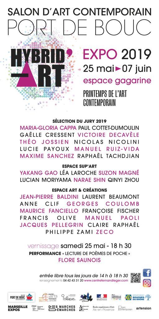 Salon d'art contemporain au Centre d'Arts Fernand Léger de Port de Bouc HYBRID'ART 2019 jusqu'au 07 juin 2019.