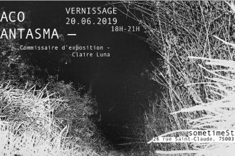 Chaco Phantasma – 20/06 au 13/07 – sometimeStudio, Paris