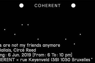 CLOUDS ARE NOT MY FRIENDS ANYMORE – Du 06/06 au 06/07 – COHERENT BRUXELLES