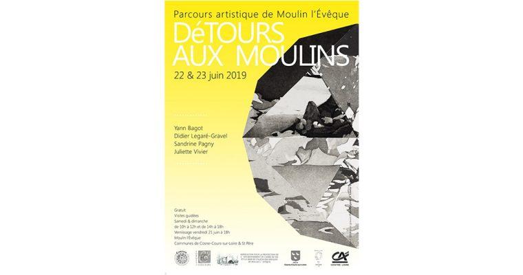 Parcours DéTours aux moulins – 21 au 23/06 – St Père et Cosne-Cours-sur-Loire