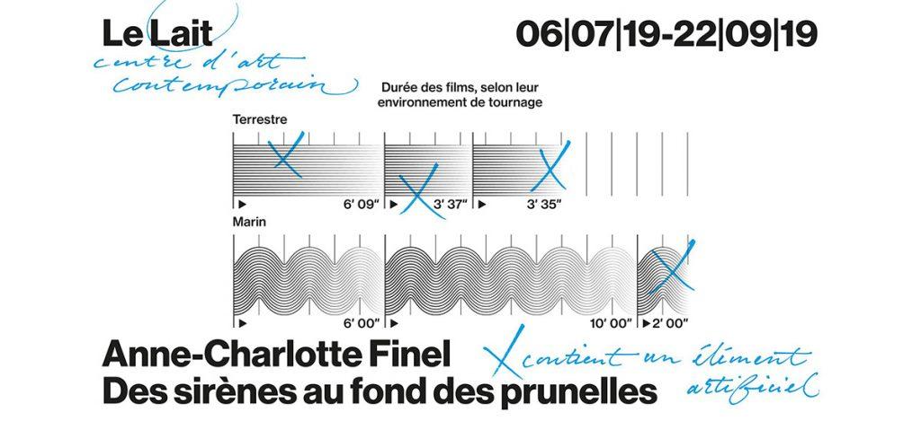 Exposition personnelle d'Anne-Charlotte Finel Des sirènes au fond des punelles du 05 juillet au 22 septembre 2019