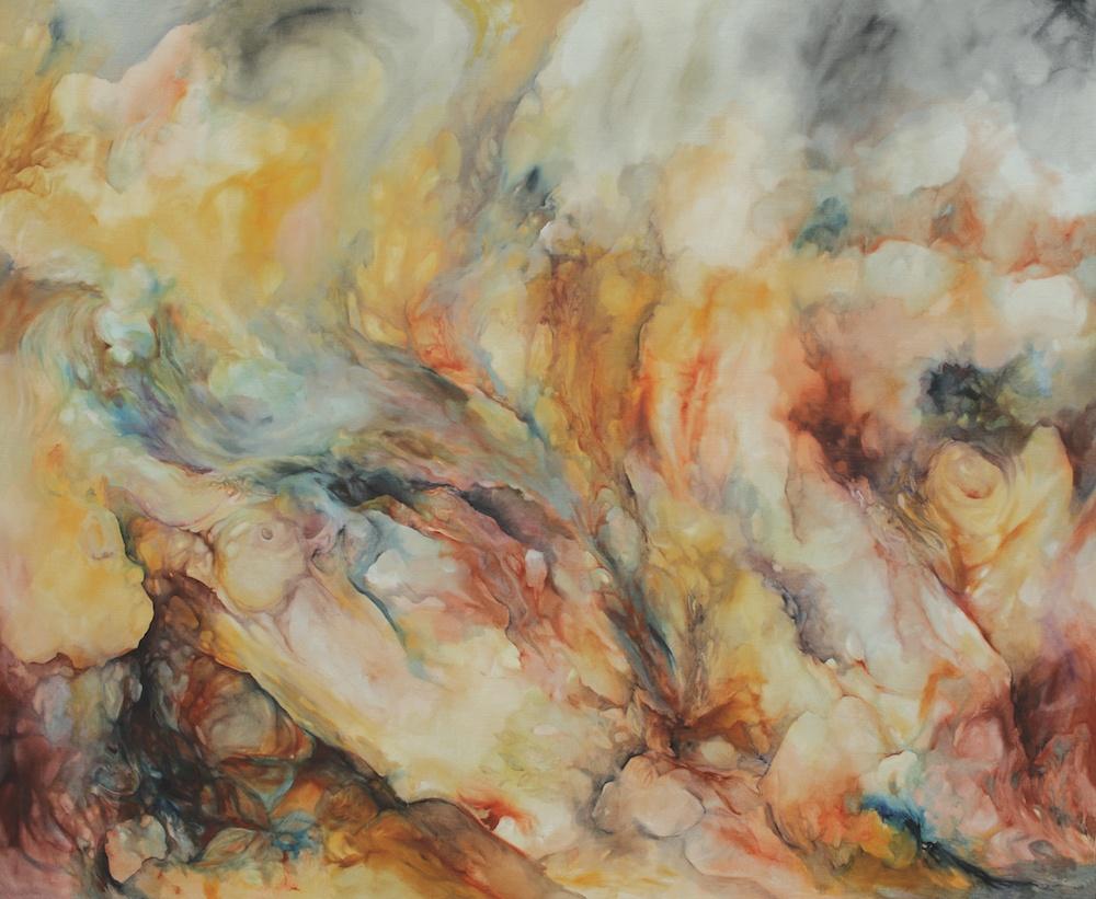 Émilie Sévère, Topos 1, 2016. Huile sur toile, 240 x 200 cm. Courtesy Émilie Sévère