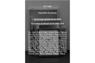 As I like – 29/06 au 31/07 – Galerie Alain Gutharc, Paris