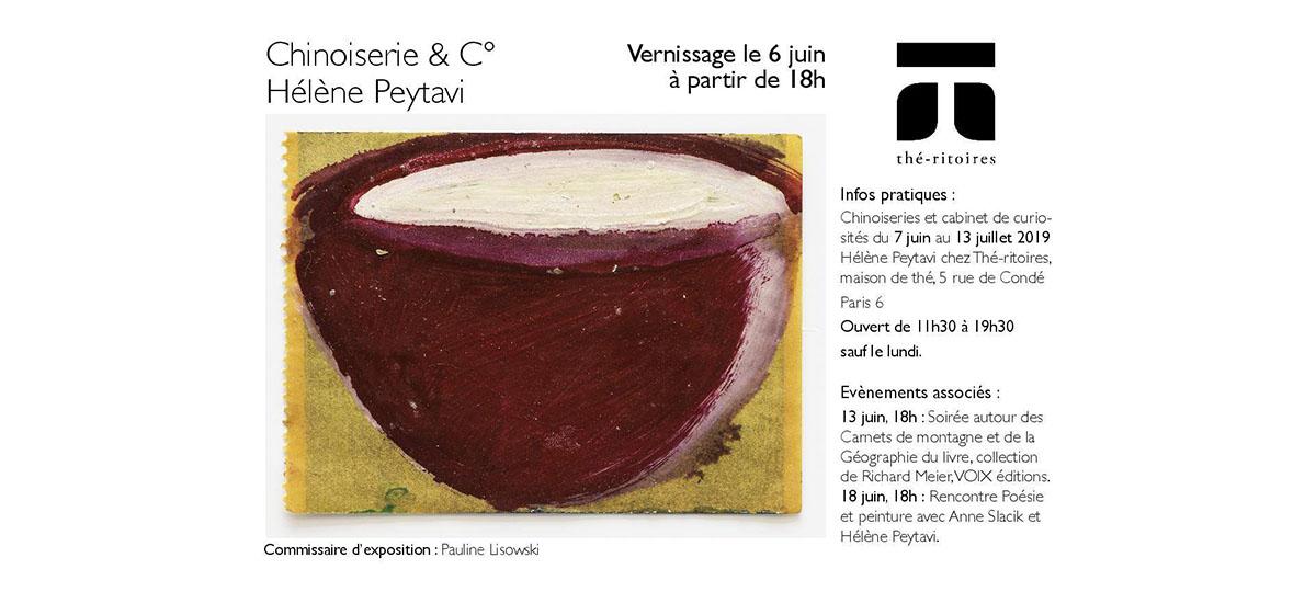 Chinoiserie et C° Hélène Peytavi – Du 07/06 au 13/07 – Thé-ritoires Paris