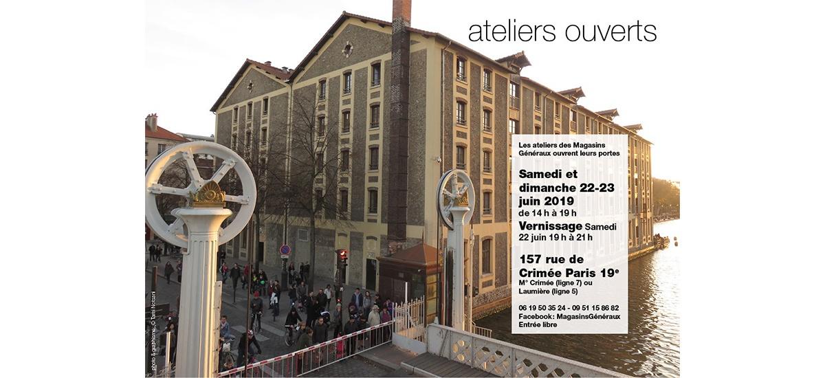 Portes ouvertes ateliers – 22 et 23/06 – Magasins Généraux Paris