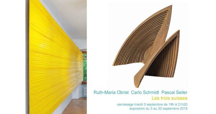 Les trois suisses – 03 au 30/09 – Galerie La Ferronnerie, Paris