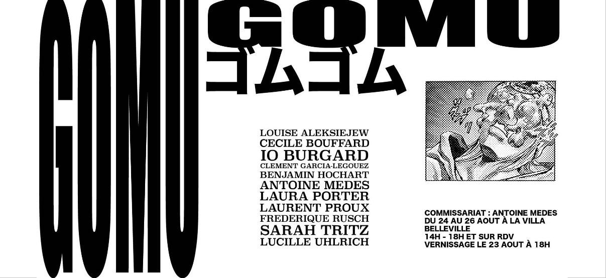 Gomu Gomu – 23 au 26/08 – Villa Belleville, Paris