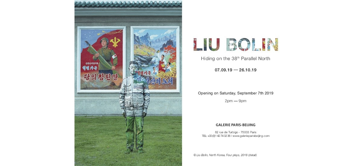 Liu Bolin –  Hiding on the 38th Parallel North – 07/09 au 26/10 – Galerie Paris-Beijing, Paris