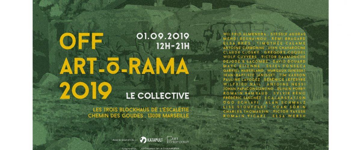 Le collective – OFF ART_O_RAMA 2019 – 01/09 – 12h à 20h –   Blockhaus de l'Escalette, Marseille