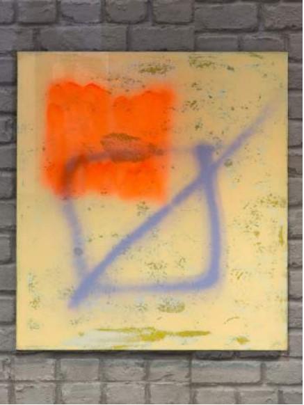 Éléonore Cheneau_Carré barré mauve_exposition Comme le son d'une cloche apporté par le vent_École et Espace d'art contemporain Camille Lambert_Juvisy-sur-Orge