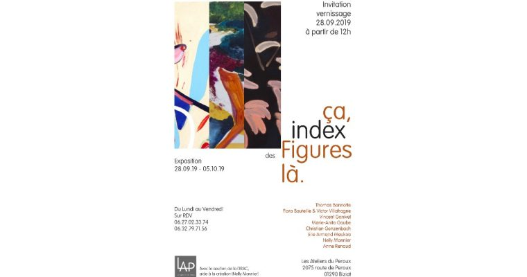 ça index des Figures là. – 28/09 au 05/10 – Les Ateliers du Péroux,  Biziat