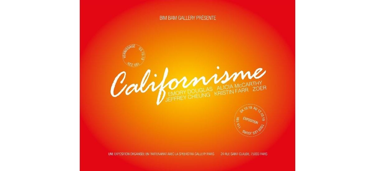 Californisme – 03 au 12/10 – Bim Bam Gallery, Paris