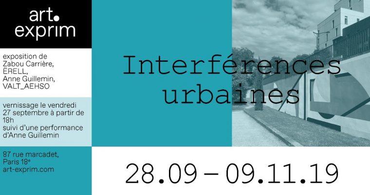 Interférences urbaines – 27/09 au 09/11 – Le 87 – Lieu de créations, Paris