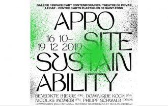 Apposite Sustainability – 12/10 au 19/12 – Galerie / Espace d'art contemporain du Théâtre de Privas