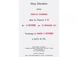 David de Tscharner – 12/10 au 24/11 – La Chambre à Aubervilliers