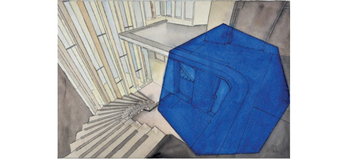 Georges Rousse – aquarelles et photographies – 08/11 au 21/12 – Galerie Catherine Putman, Paris