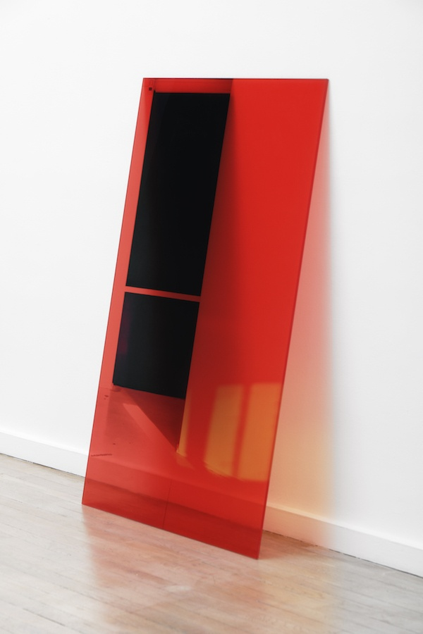 Aurélie Pétrel, Inactinique, 2018. C-print polyester film and evasafe on bridgestone extra-clear glass 6 140x90x0.9cm Courtesy Ceysson&Bénétière