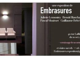 Embrasures – 10/10 au 30/11 – La Pépite, Paris