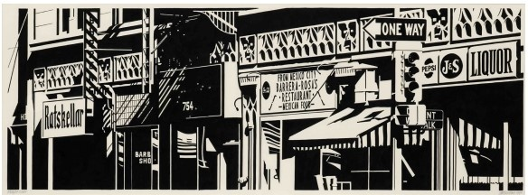 Robert Cottingham_exposition Fictions in the Space Between_Galerie Georges-Philippe & Nathalie Vallois_Paris