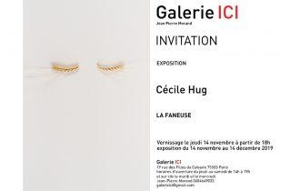 Cécile Hug – La Faneuse – 14/11 au 14/12 – Galerie ICI Paris