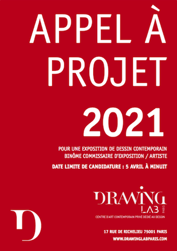 APPEL A PROJET POUR LA PROGRAMMATION 2021 Drawing Lab Paris