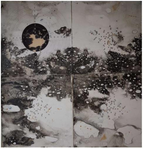 exposition Le Souffle_Galerie Françoise Besson_ Lyon_© Chantal Fontvieille-Souffle d'hiver sur Cibles-2019