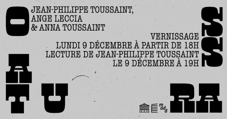 OSSATURA – 09 au 16/12 – AU LIEU – éditions extensibles, Paris