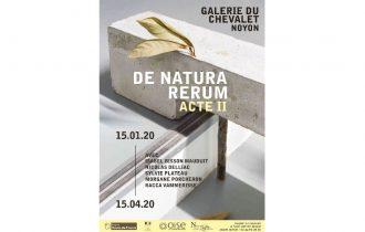 DE NATURA RERUM – 14/01 au 15/04 – Galerie du théâtre du Chevalet, Noyon