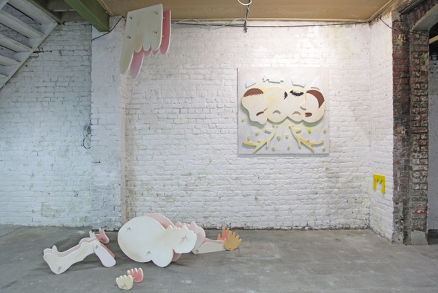 Vincent-Michaël Vallet « Charivari »,  2020 Polystyrène, acrylique, bois