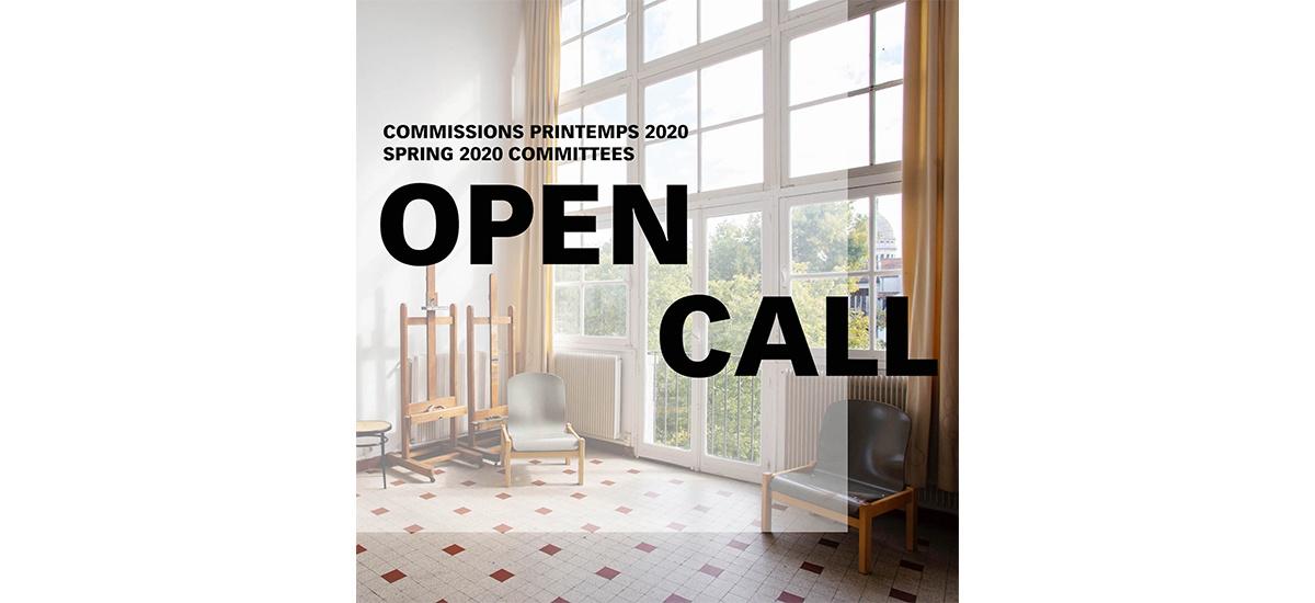 ▷01.03 – Appel à candidatures – Commissions printemps 2020