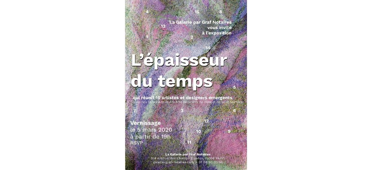 L'épaisseur du temps – 27/01 au 13/05 –  La Galerie par Graf Notaires, Paris