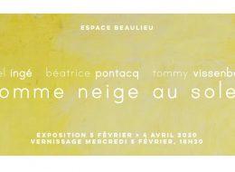 comme neige au soleil – 05/02 au 04/04 – Espace Beaulieu, Bordeaux